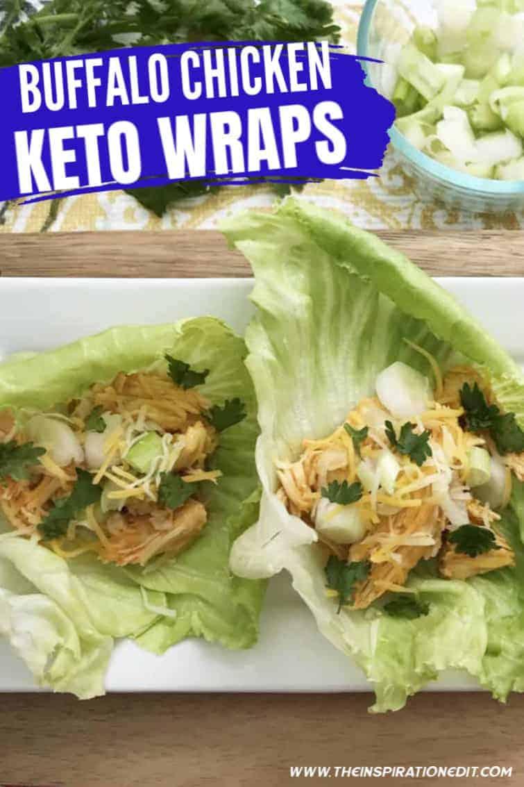 buffalo chicken keto wraps