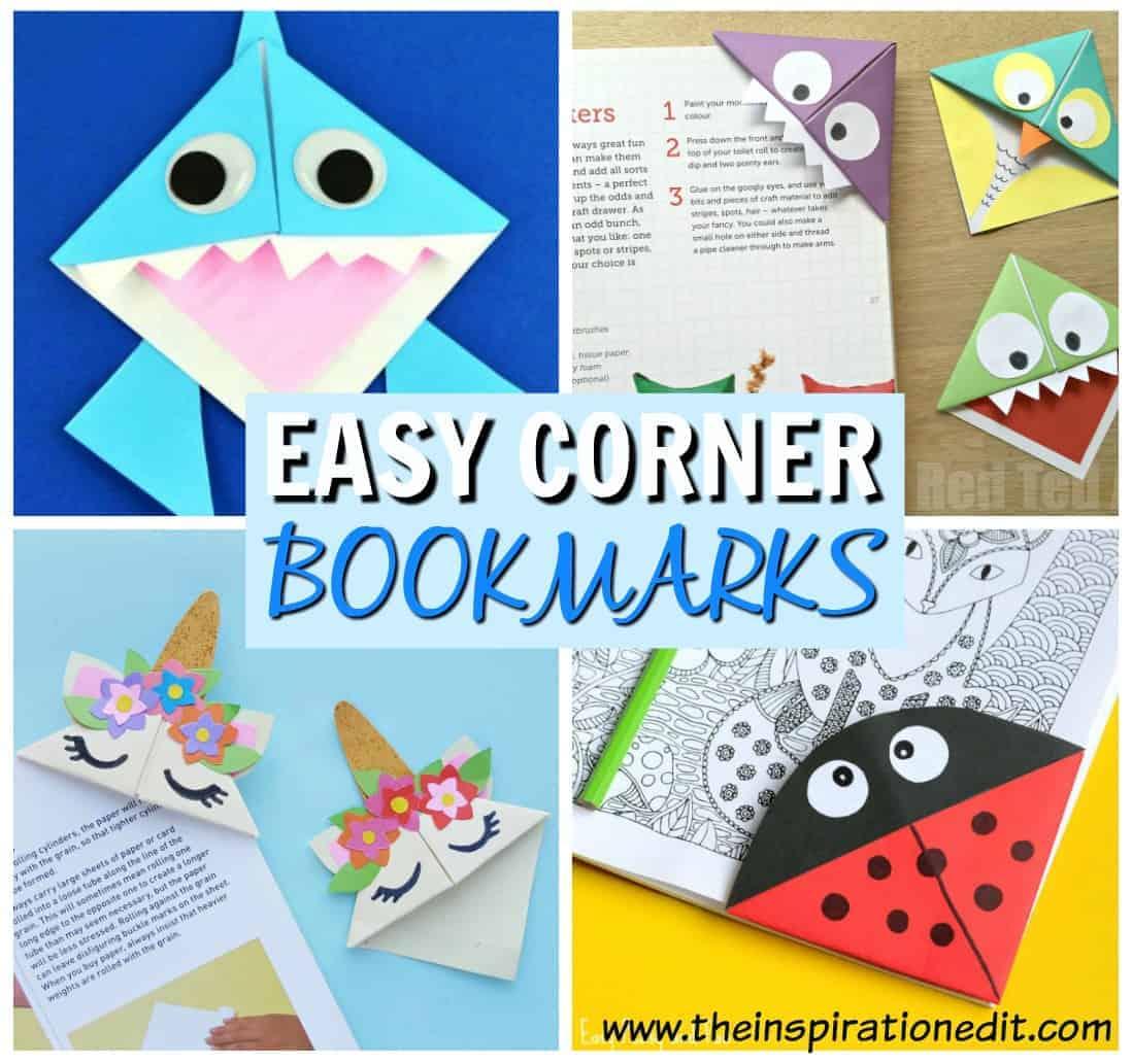 easy corner bookmarks