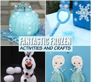 frozen craft and frozen activities for kids