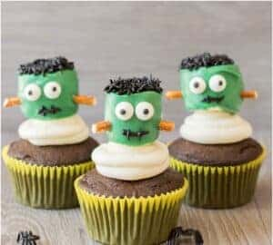 frankenstein cupcakes party food ideas for halloween party