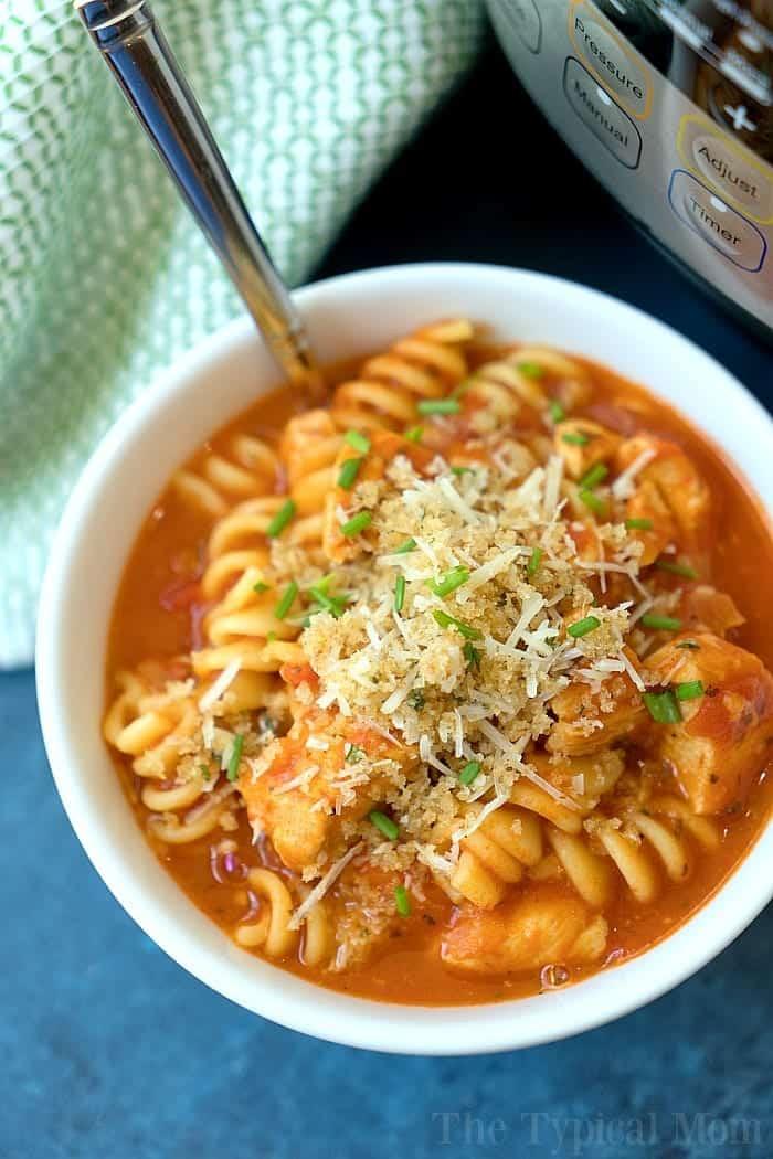 Instant Pot Chicken Parmesan Casserole