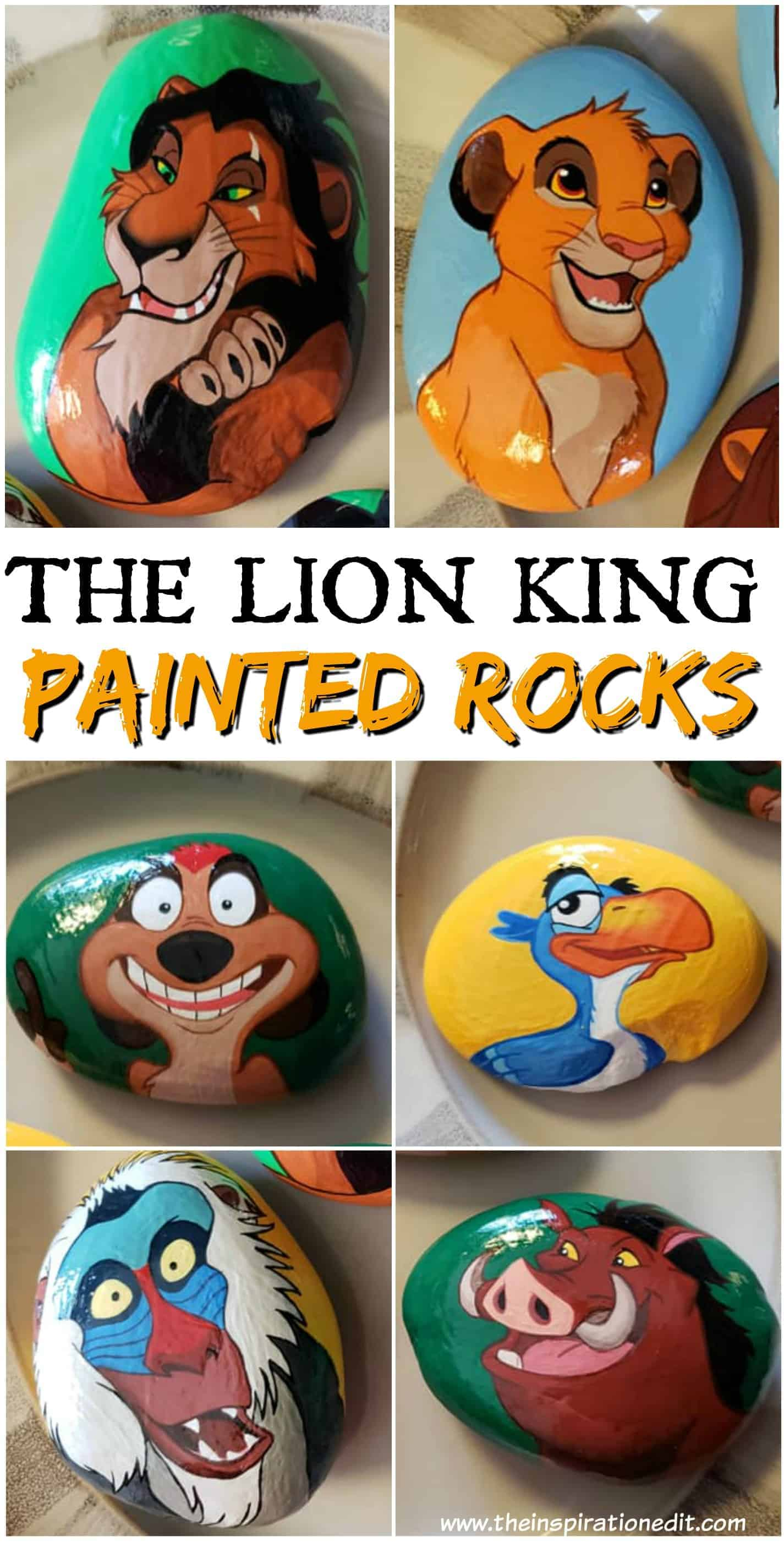ec638d84 Lion King Painted Rock Stones By Carly S · The Inspiration Edit