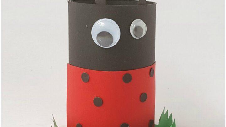 toilet tube ladybug craft