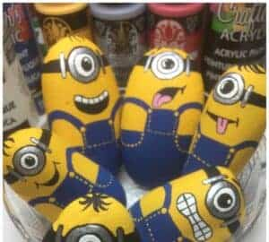 minion rock painting tutorial