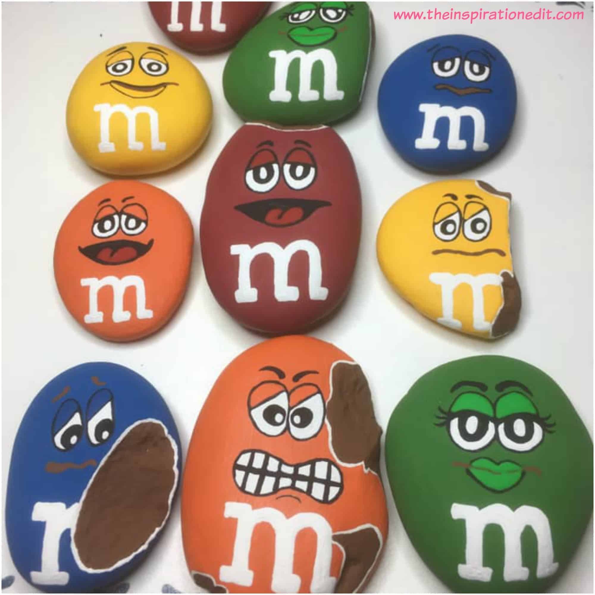 m&m craft rock painting