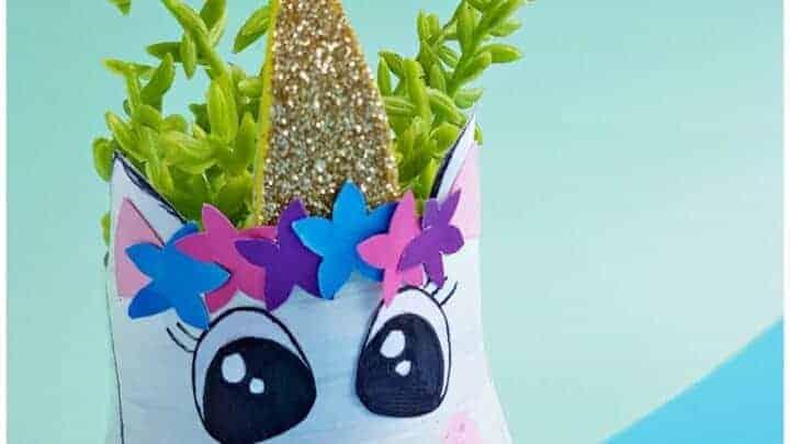 DIY Planter Ideas Bottle Recycling Unicorn Planter