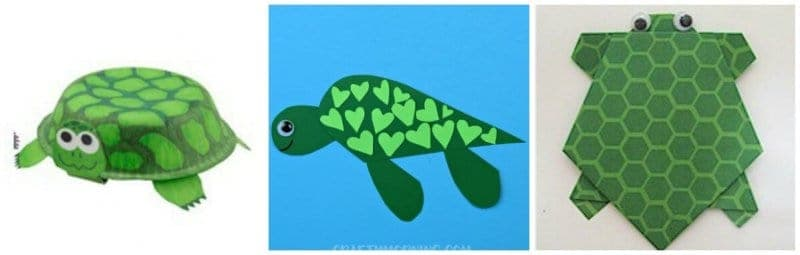 Easy Turtle Paper Bowl Craft | Preschool Crafts for Kids | 255x800