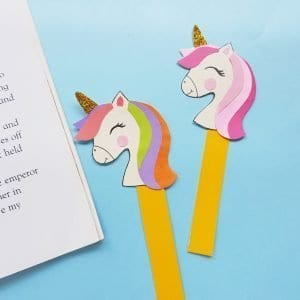 paper unicorn bookmark