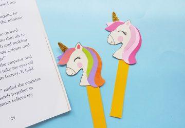 paper unicorn bookmark