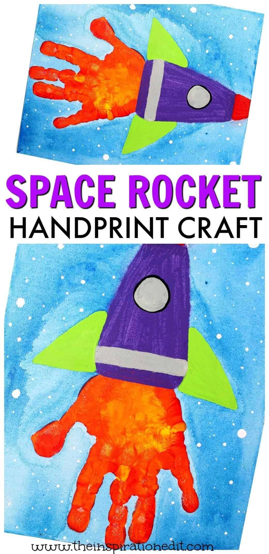 space rocket handprint craft