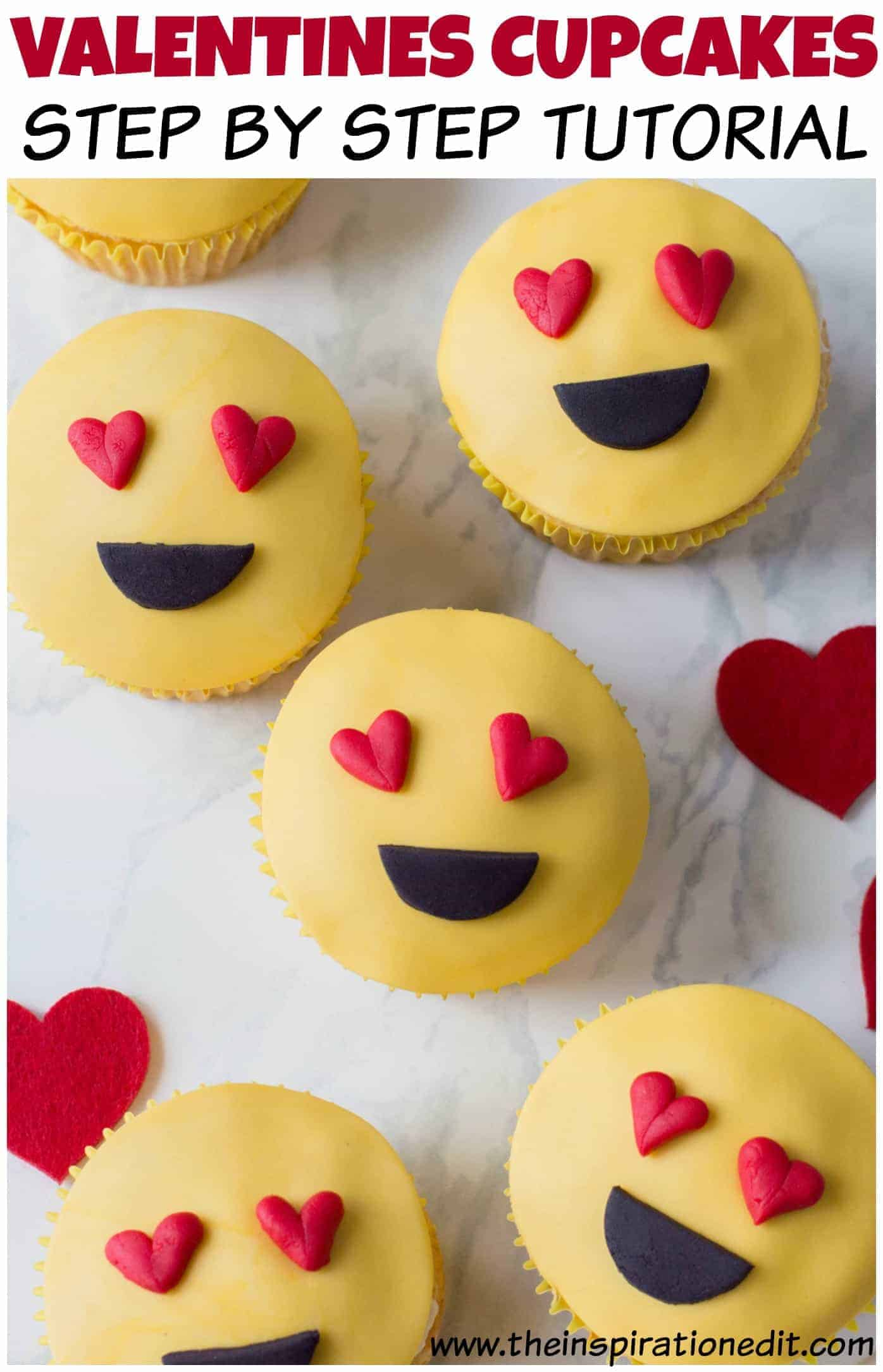 Valentine's Emoji Cupcakes