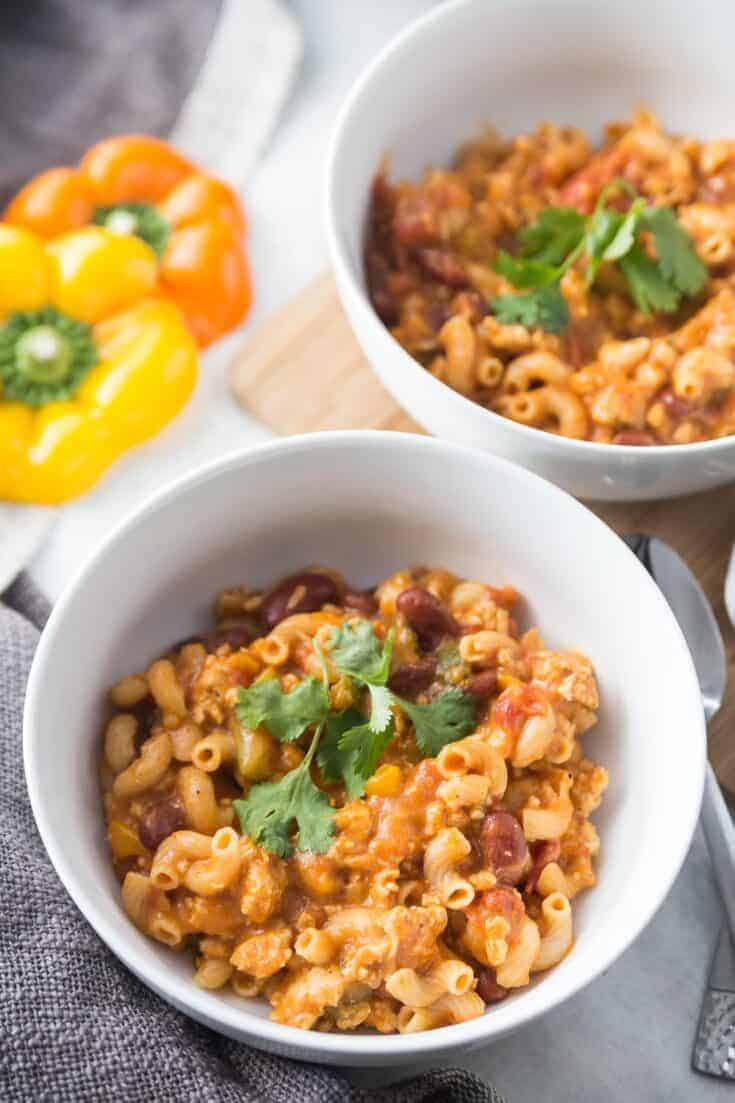 Healthy Instant Pot Chili Mac [21 Day Fix