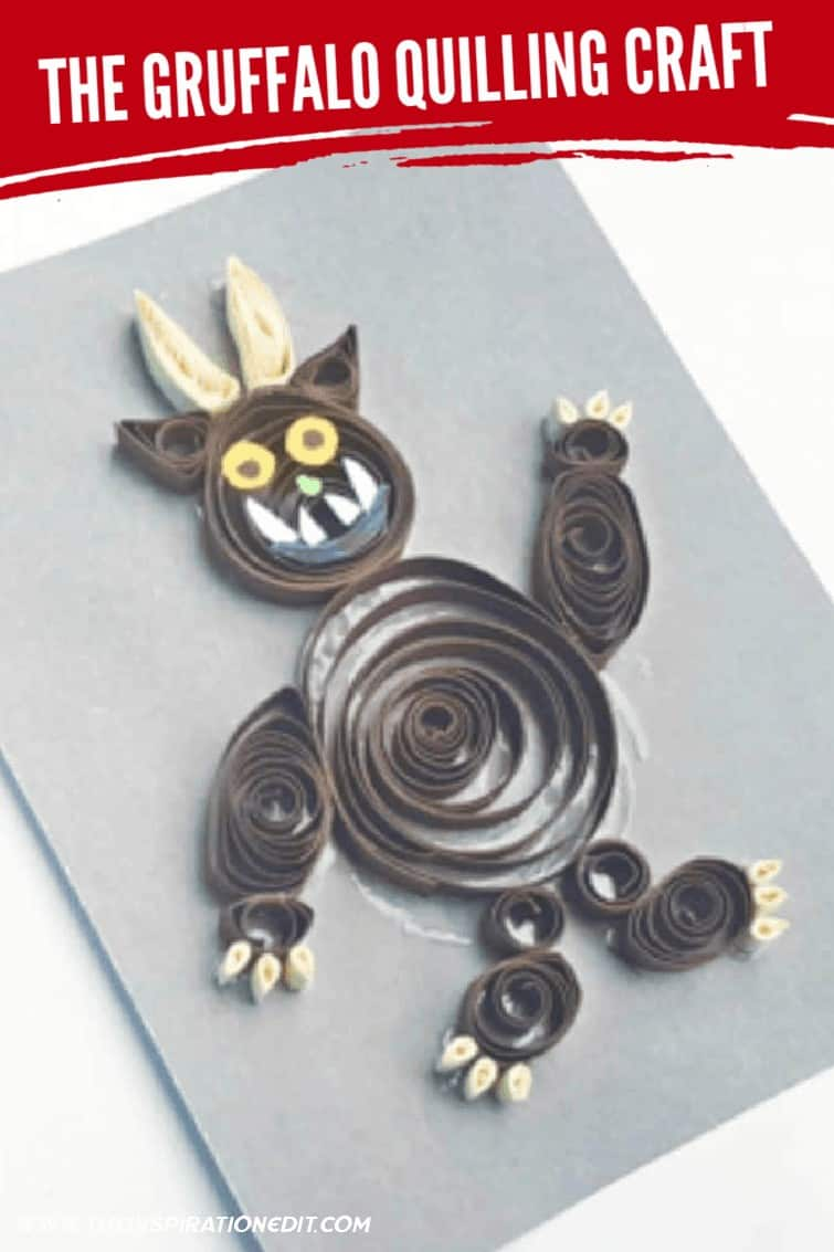 GRUFFALO QUILLING CRAFT