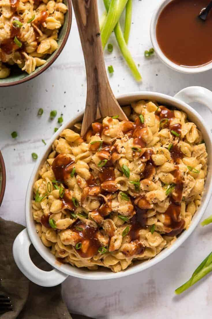 Instant Pot BBQ Chicken Mac & Cheese