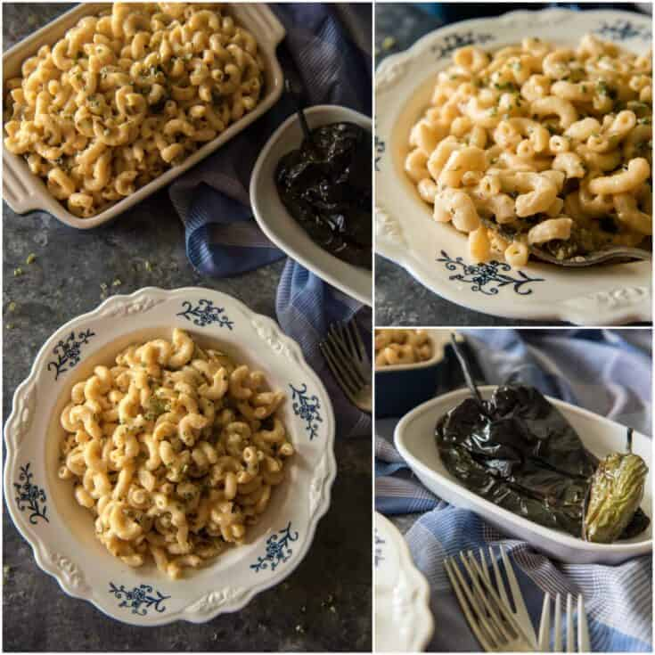 Instant Pot Mac & Cheese with Roasted Poblanos
