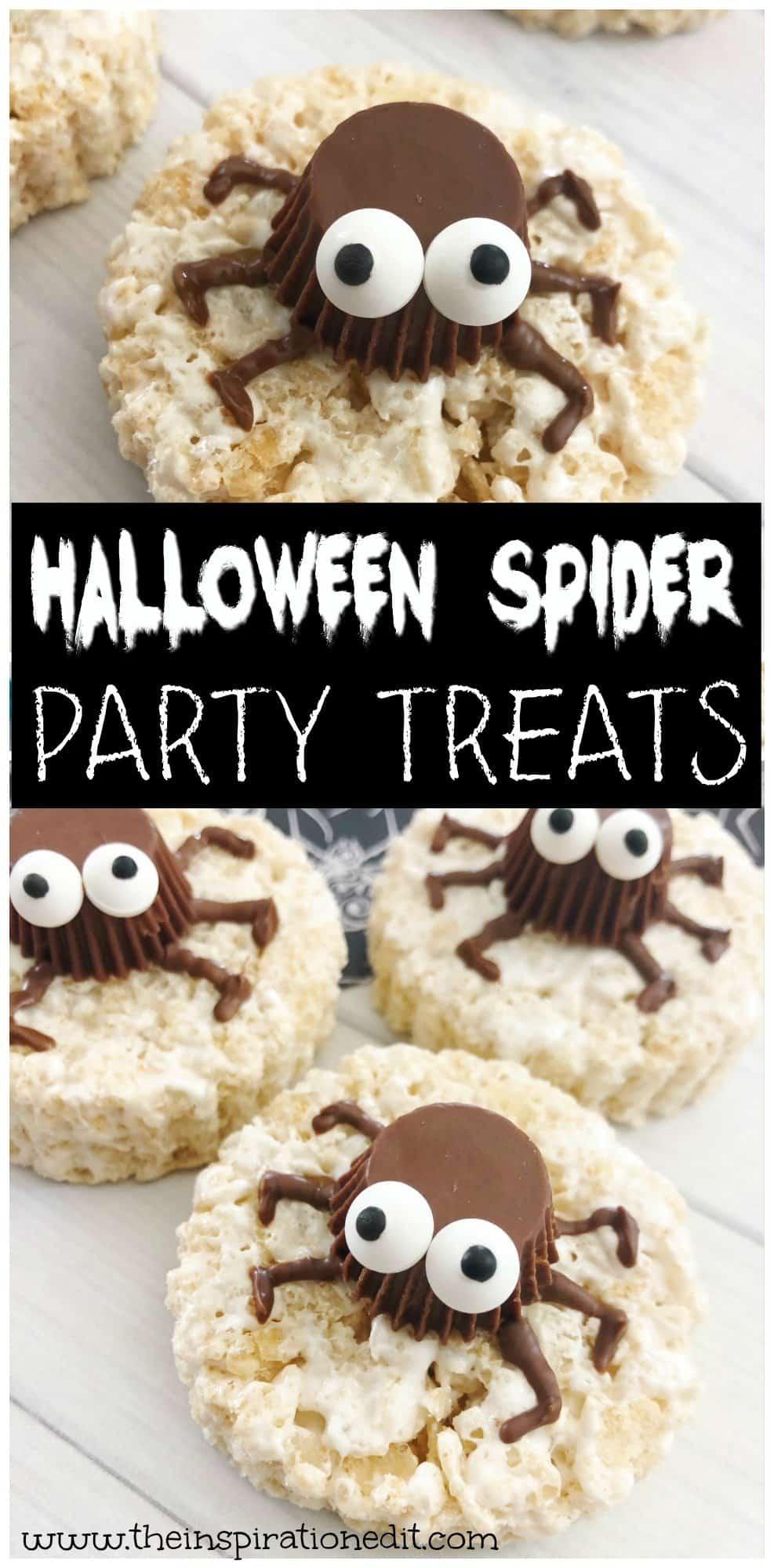 Spidery Halloween Rice Krispies Treat