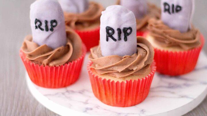 halloween cupcakes gravestone