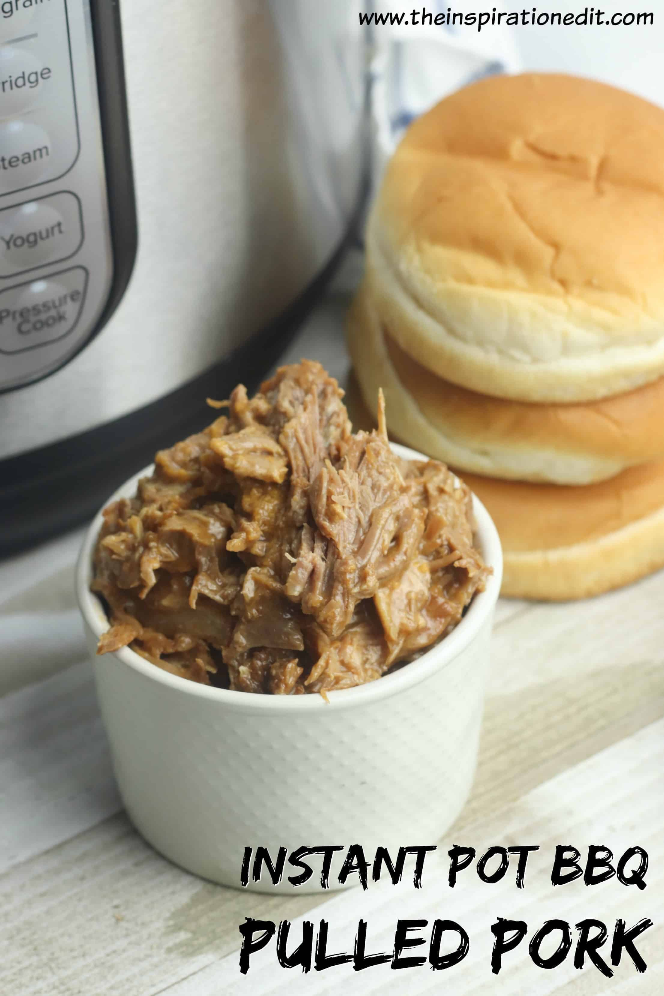 Delicious Instant Pot BBQ Pulled Pork is only a few minutes away!