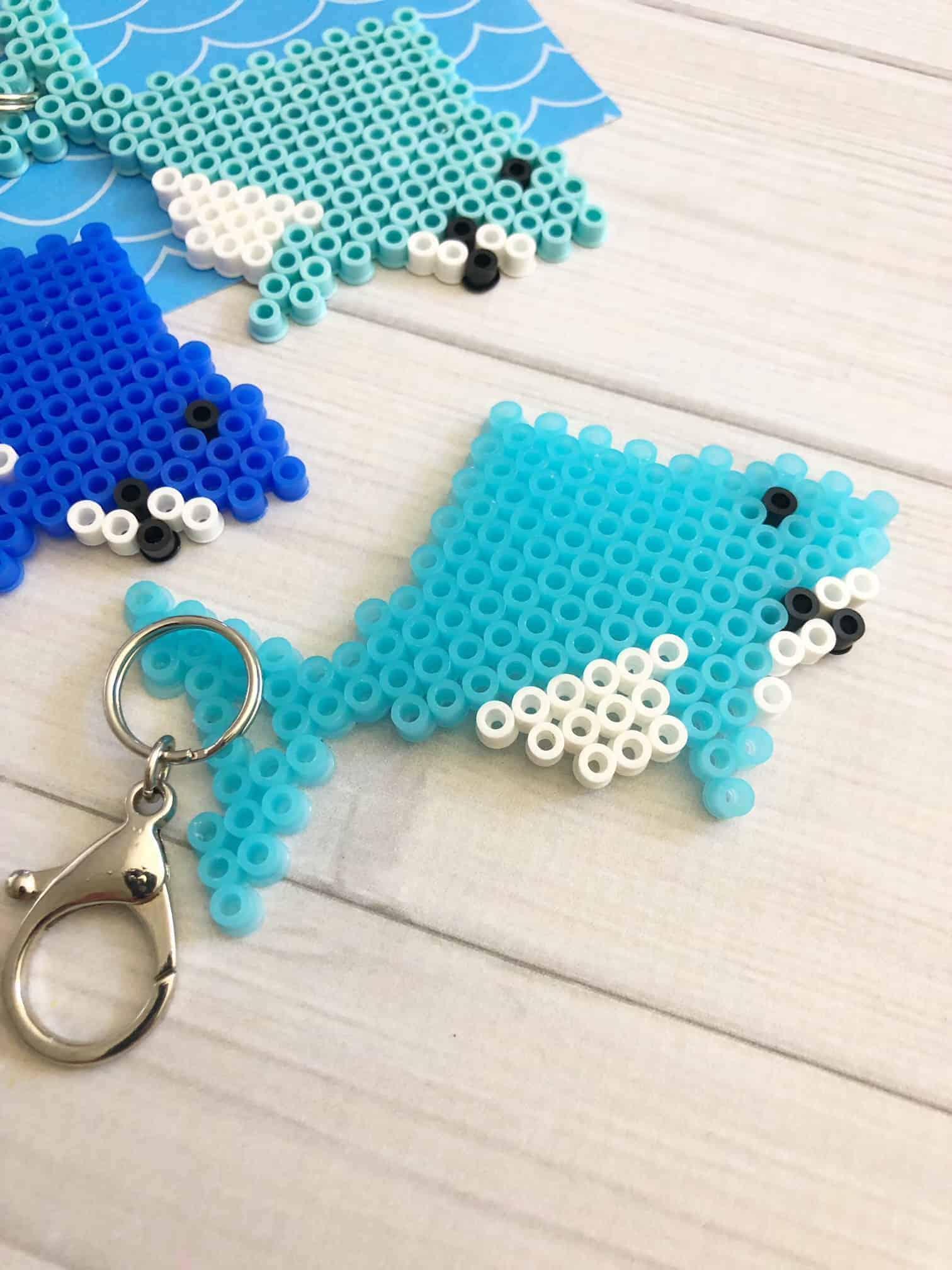 Hama Bead Patterns Diy Shark Keychain The Inspiration Edit