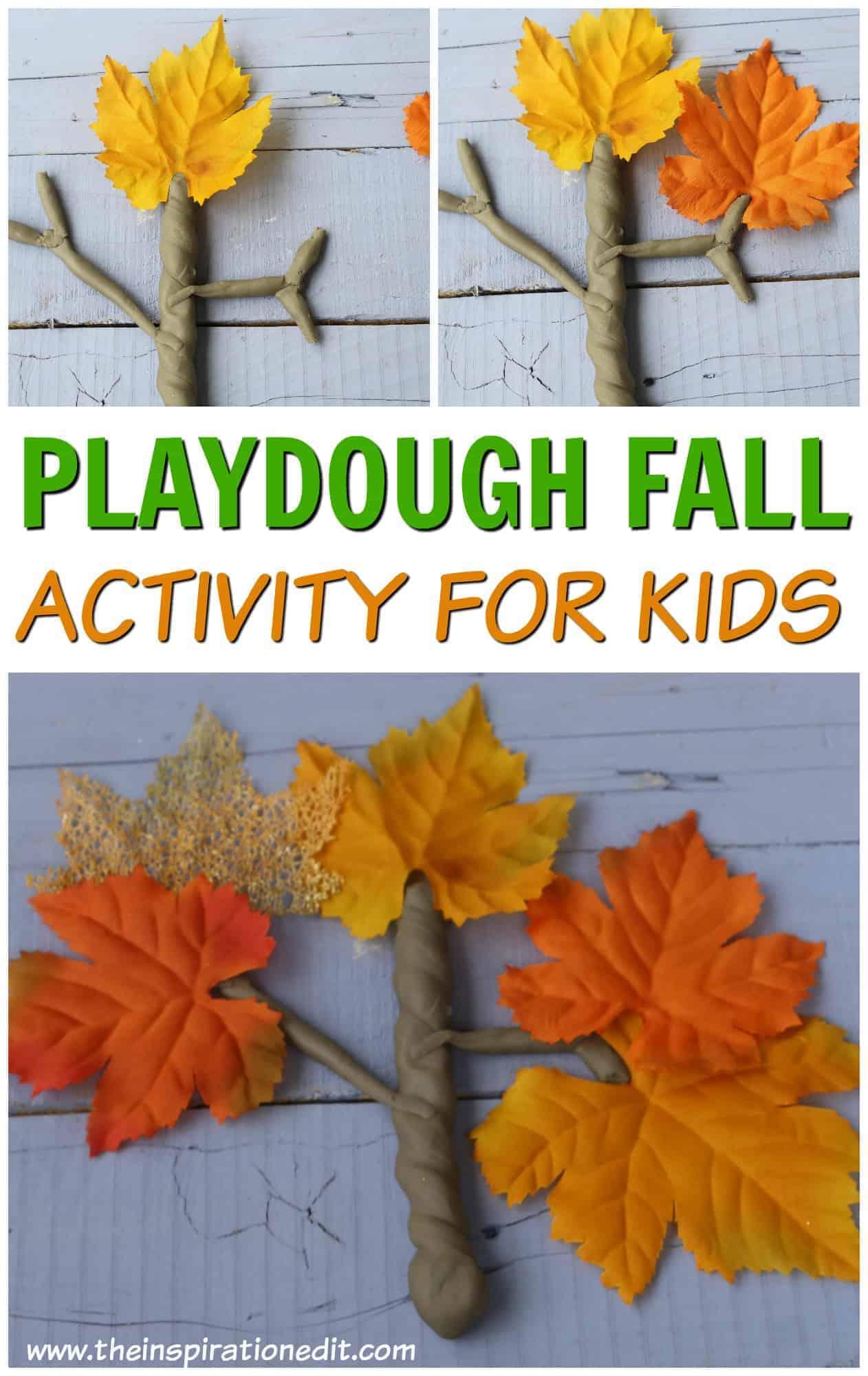 Playdough Fall activity for kids