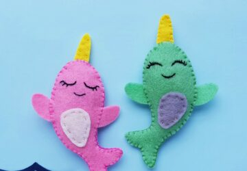narwhal plush craft for kids