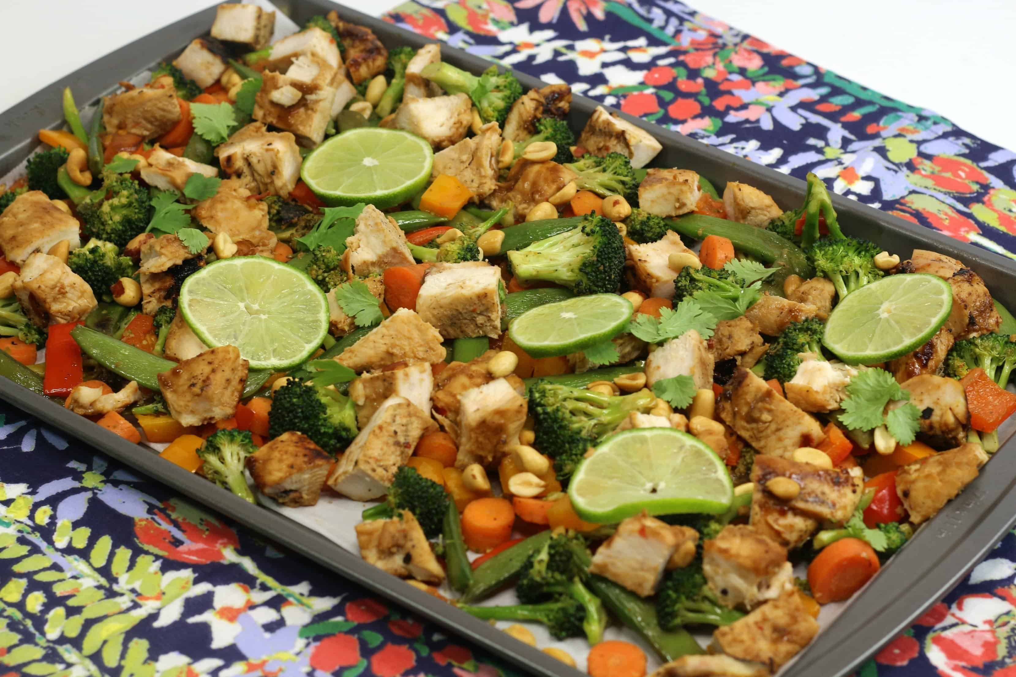sheet pan thai chicken recipe