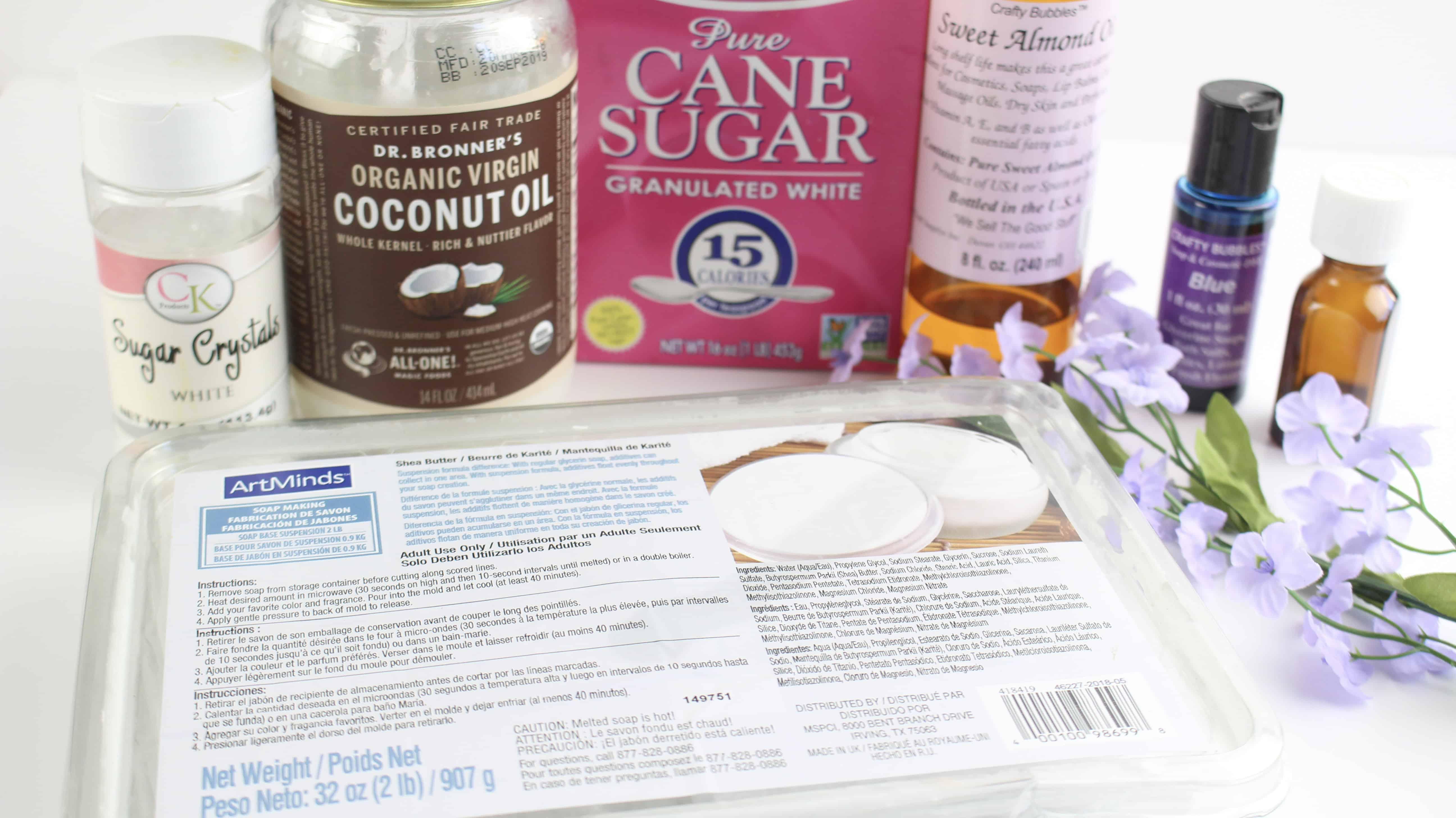 Sugar Cube Scrub ingredients