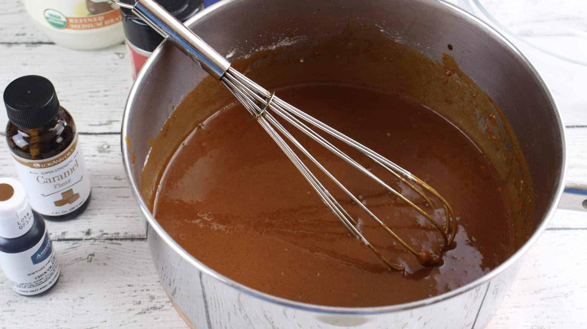 caramel Scented Apple Playdough recipe