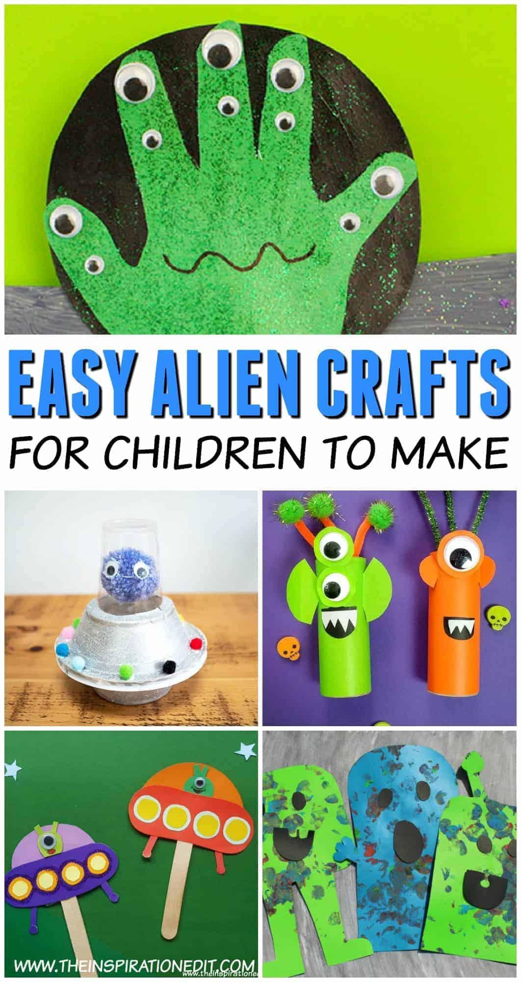 Alien crafts for preschool kids