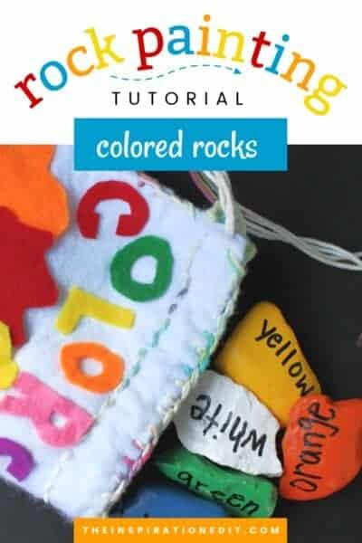 Rock Painting TutorialColor rocks for preschool kids