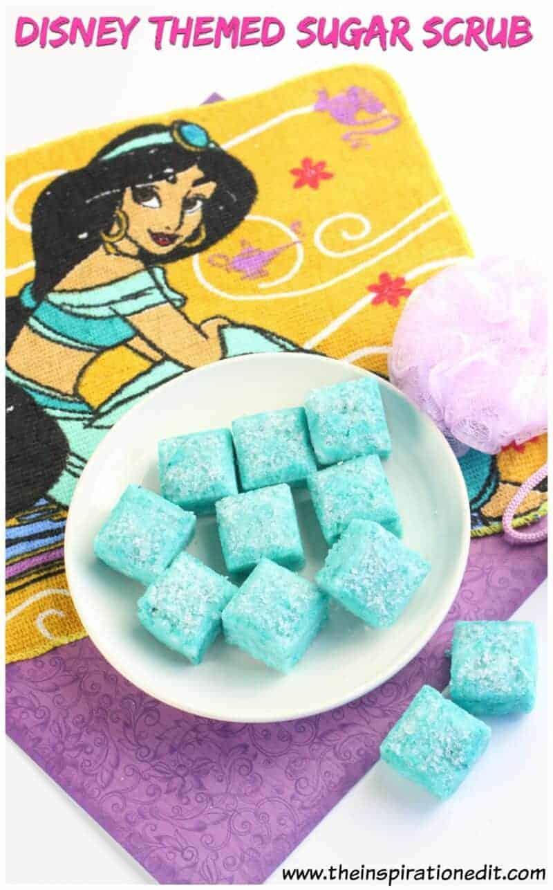 homemade sugar scrub recipe that is disney inspired
