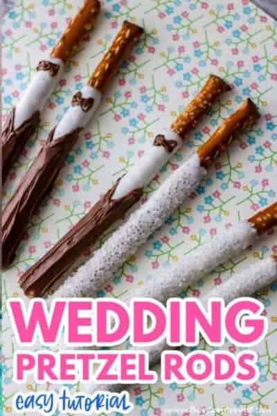 wedding pretzel rods