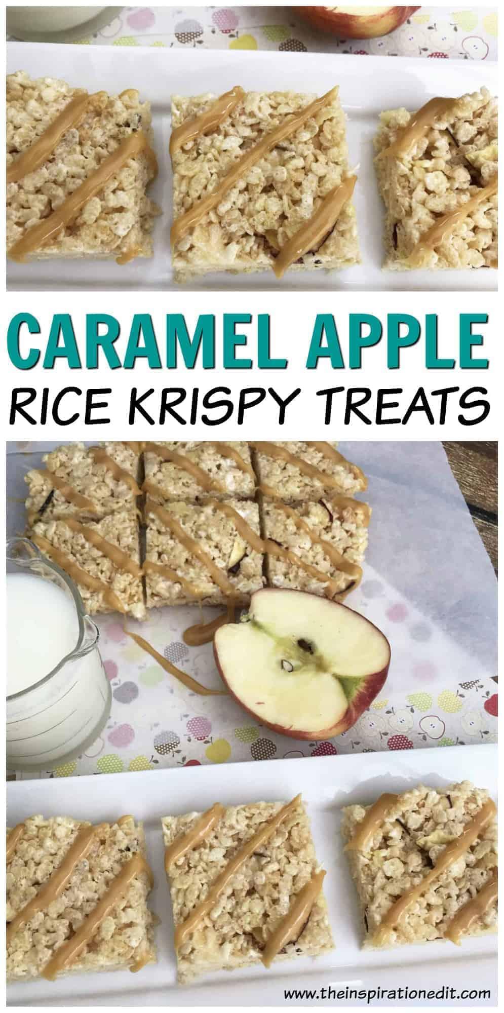 Caramel Apple Rice Krispies Treats