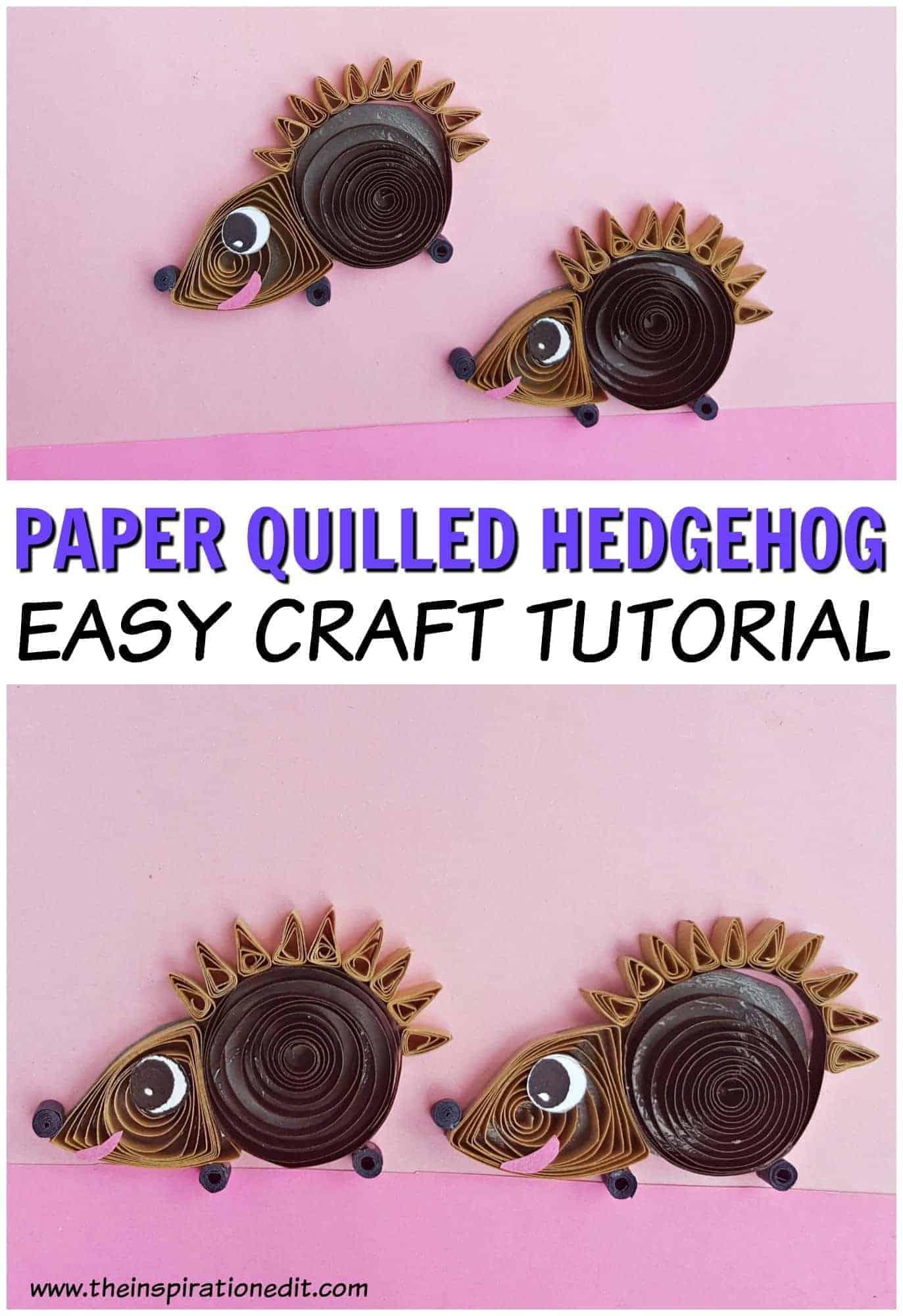 Hedgehog quilling craft