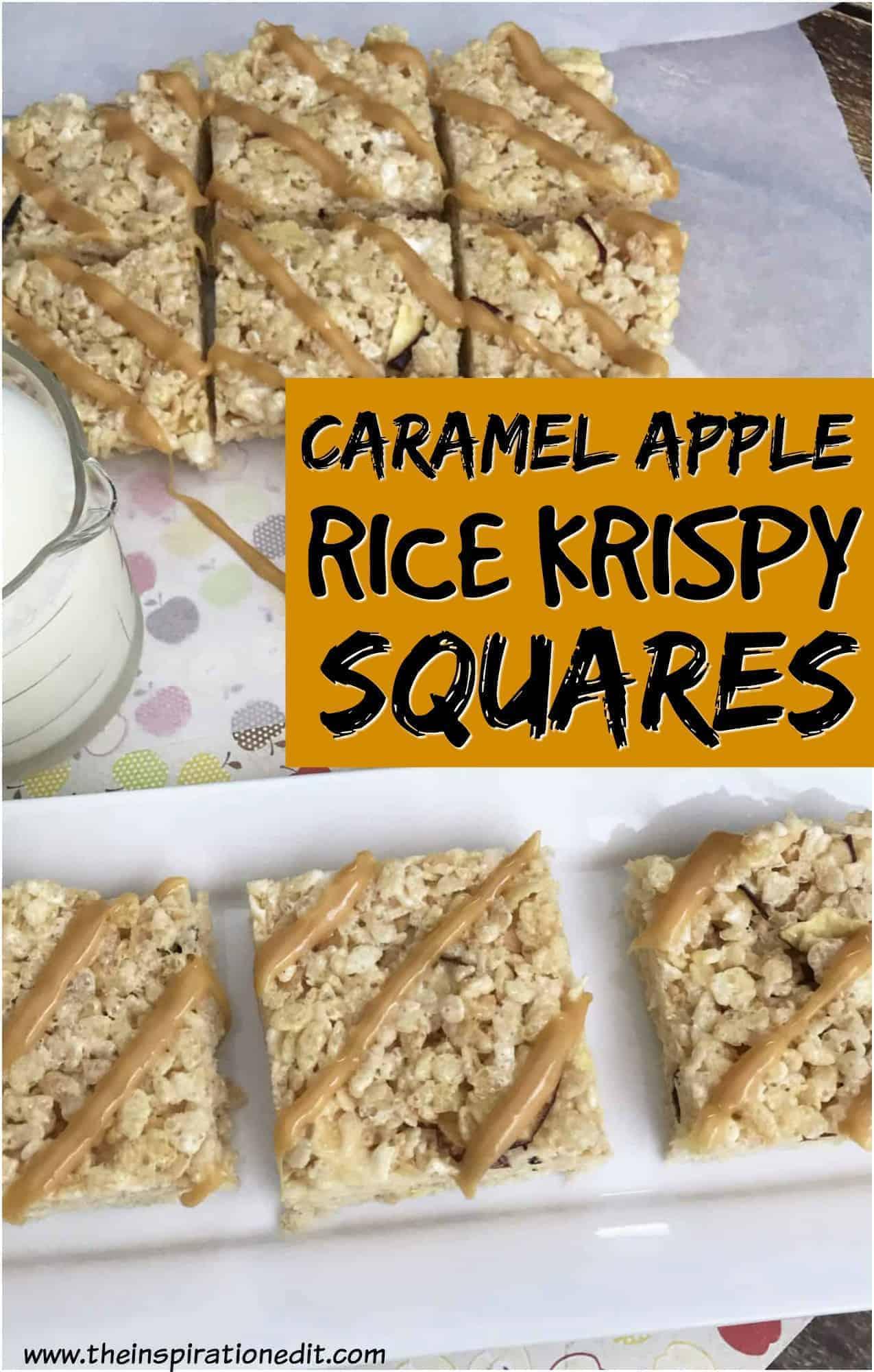 caramel rice krispy squares