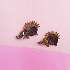 hedgehog quilling craft