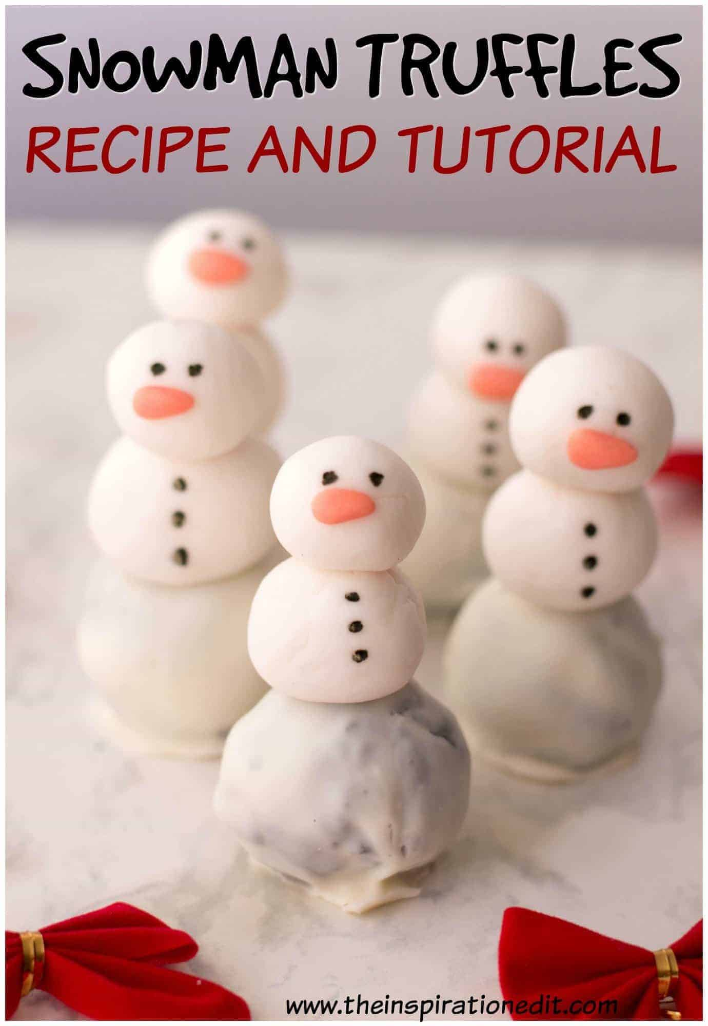 Snowman Oreo Balls Party Treat The Inspiration Edit