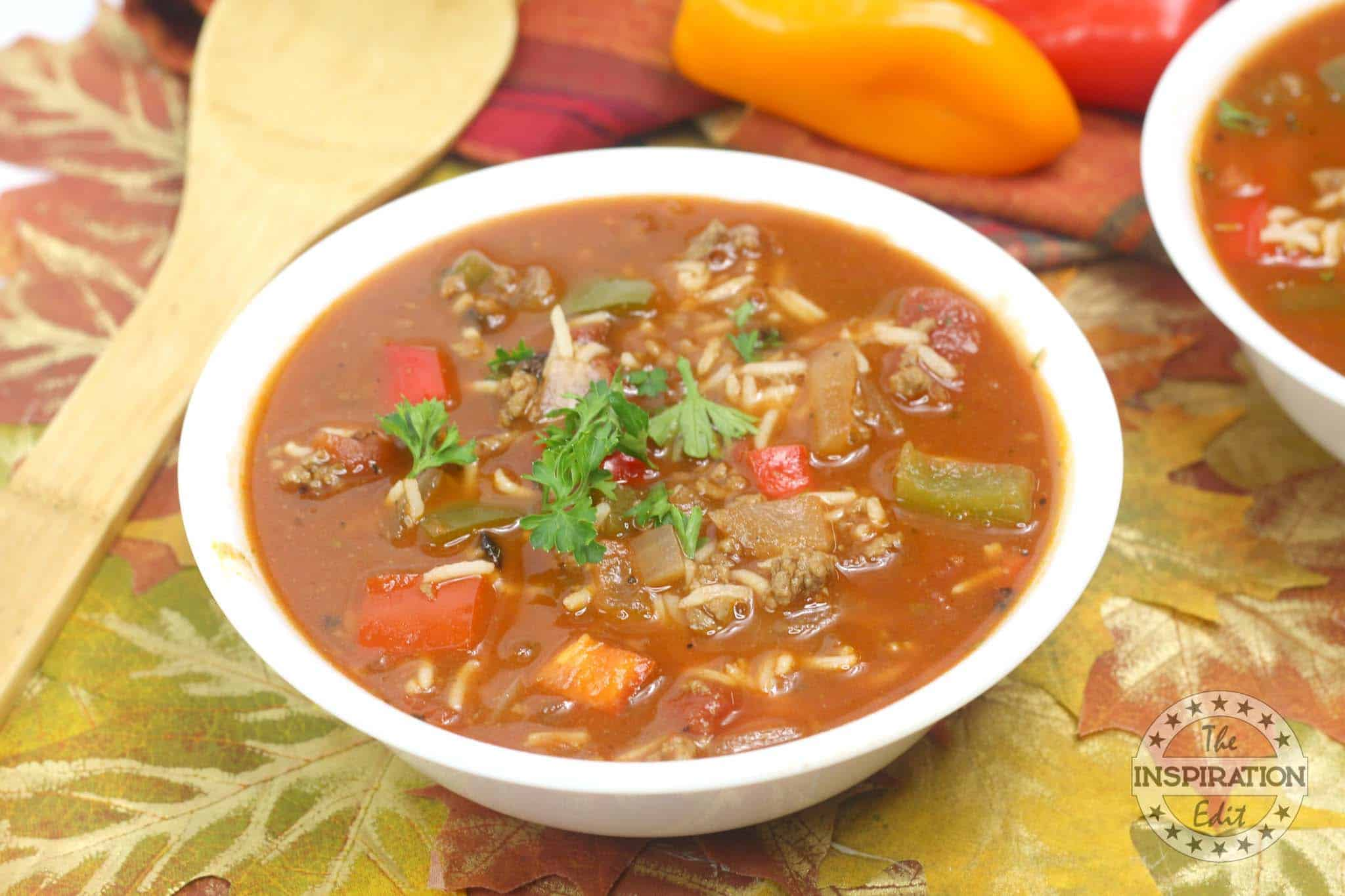 stuffed pepper soup for the weight watchers plan