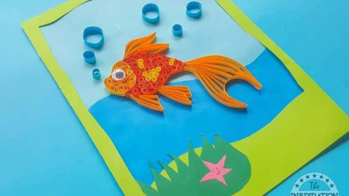 how to make a quilled goldfish craft
