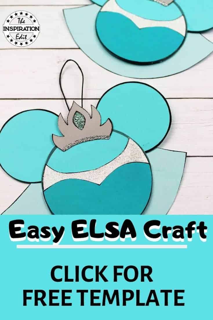 disney frozen elsa christmas craft
