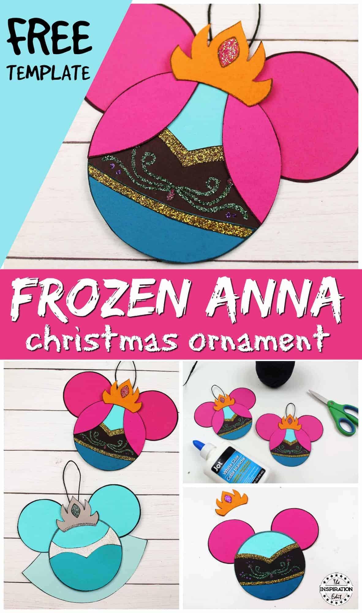 disney frozen anna christmas craft