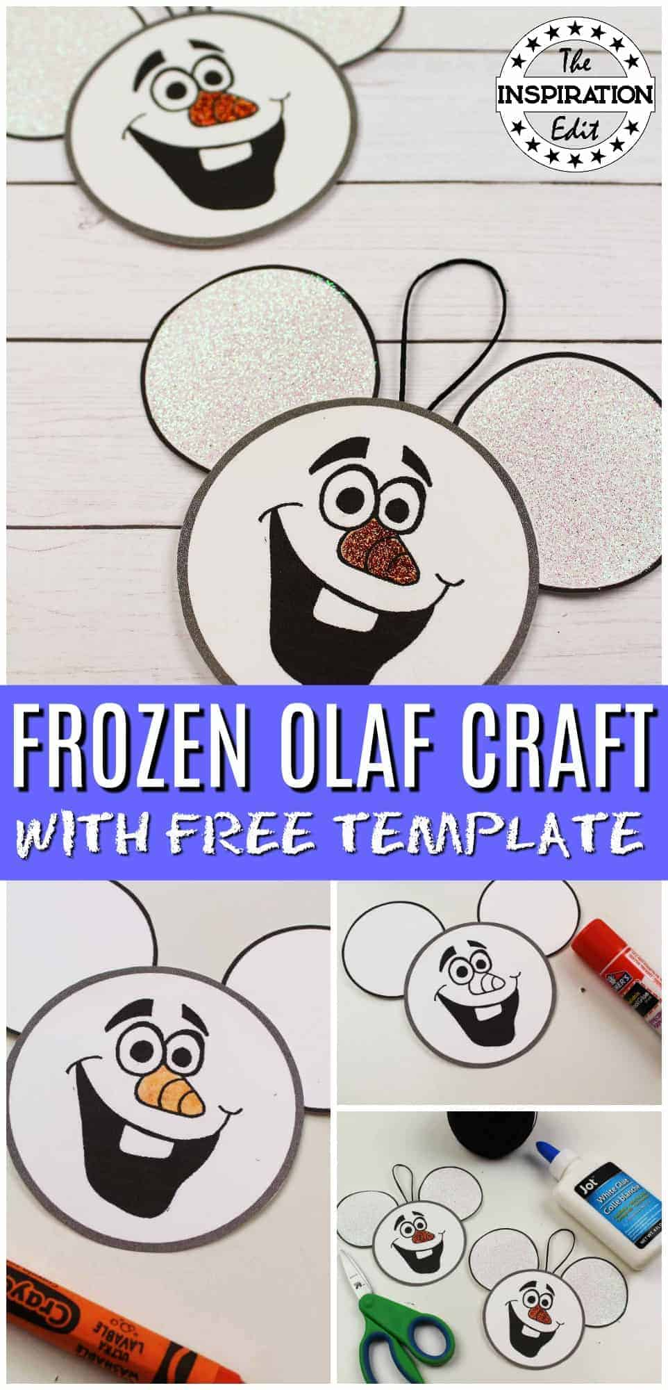 FROZEN OLAF CHRISTMAS ORNAMENT CRAFT