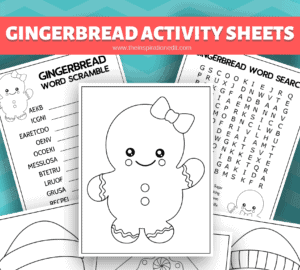 gingerbread man activity sheets