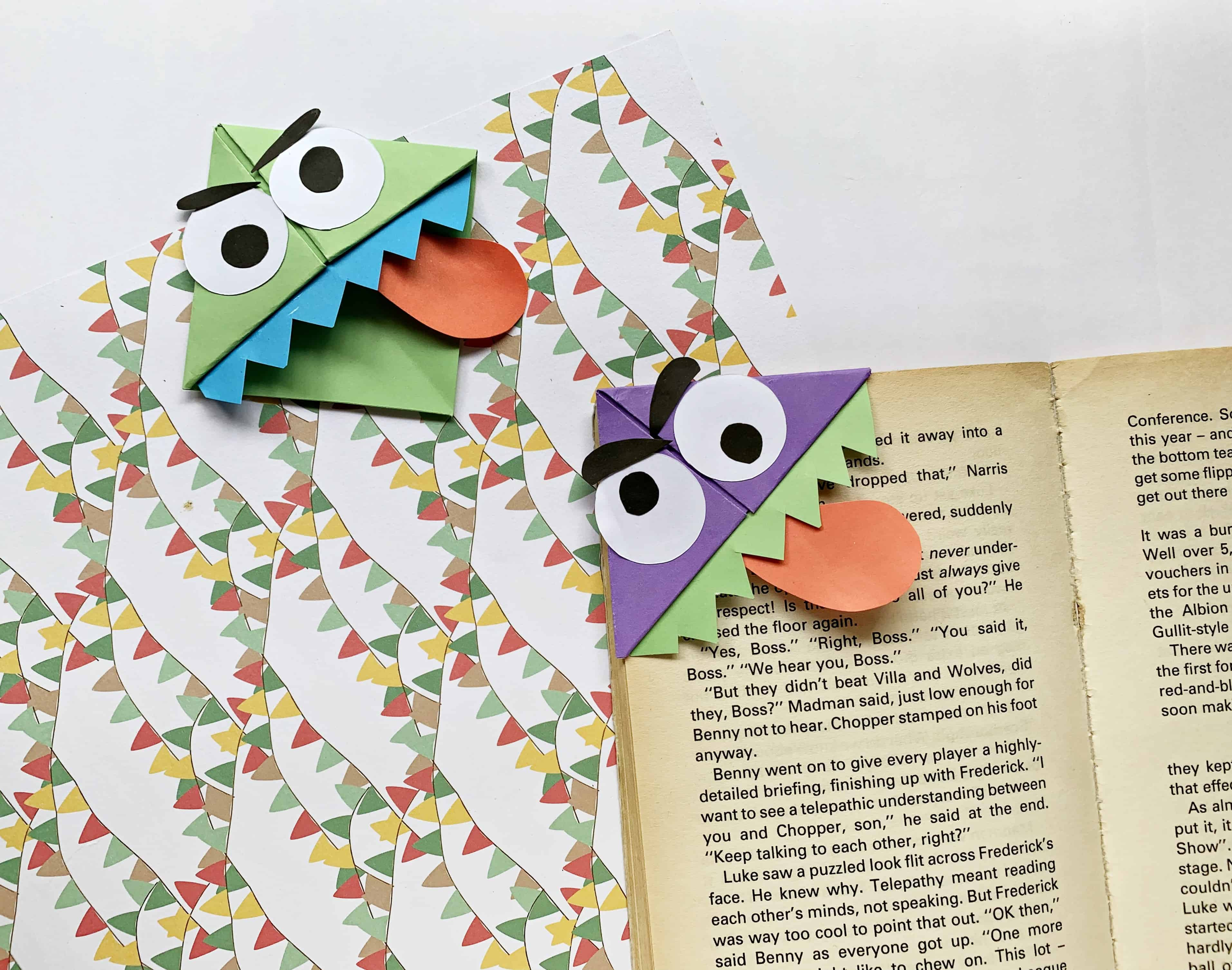monster corner bookmark tutorial