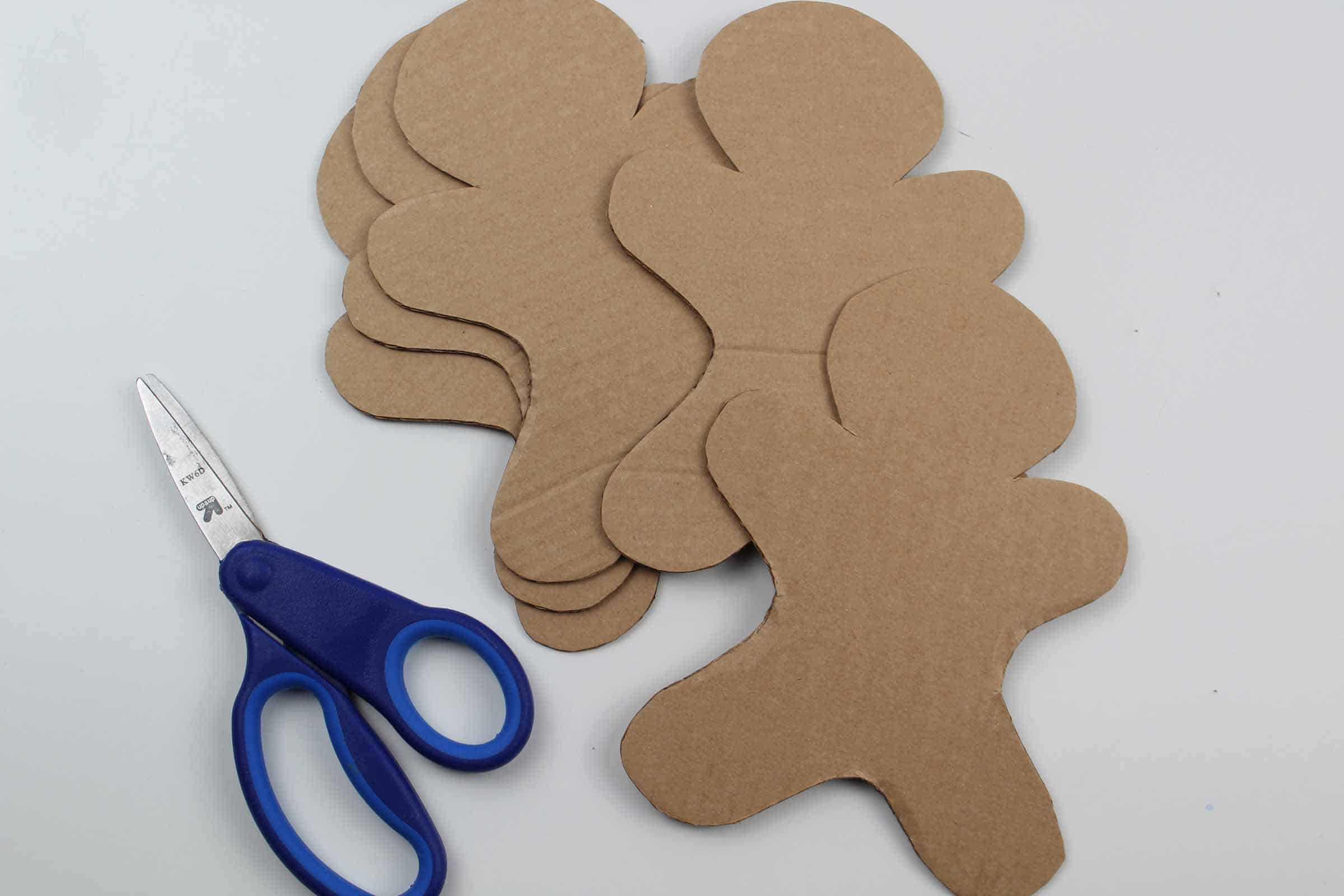 Cardboard shapes of the gingerbread man