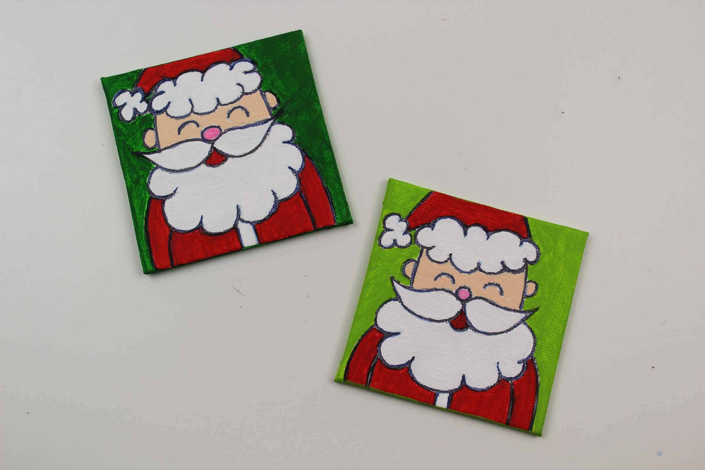Painted Santa Claus on Canvas
