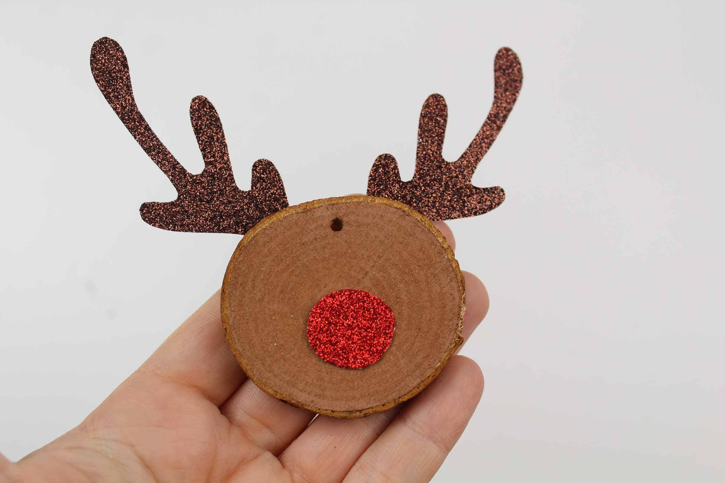 Add the nose to your Rudolf Christmas Craft