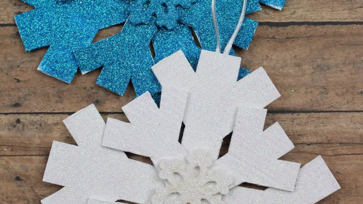Snowflake Decoration And Winter Craft For Kids