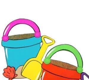 bucket and spade beach themed craft
