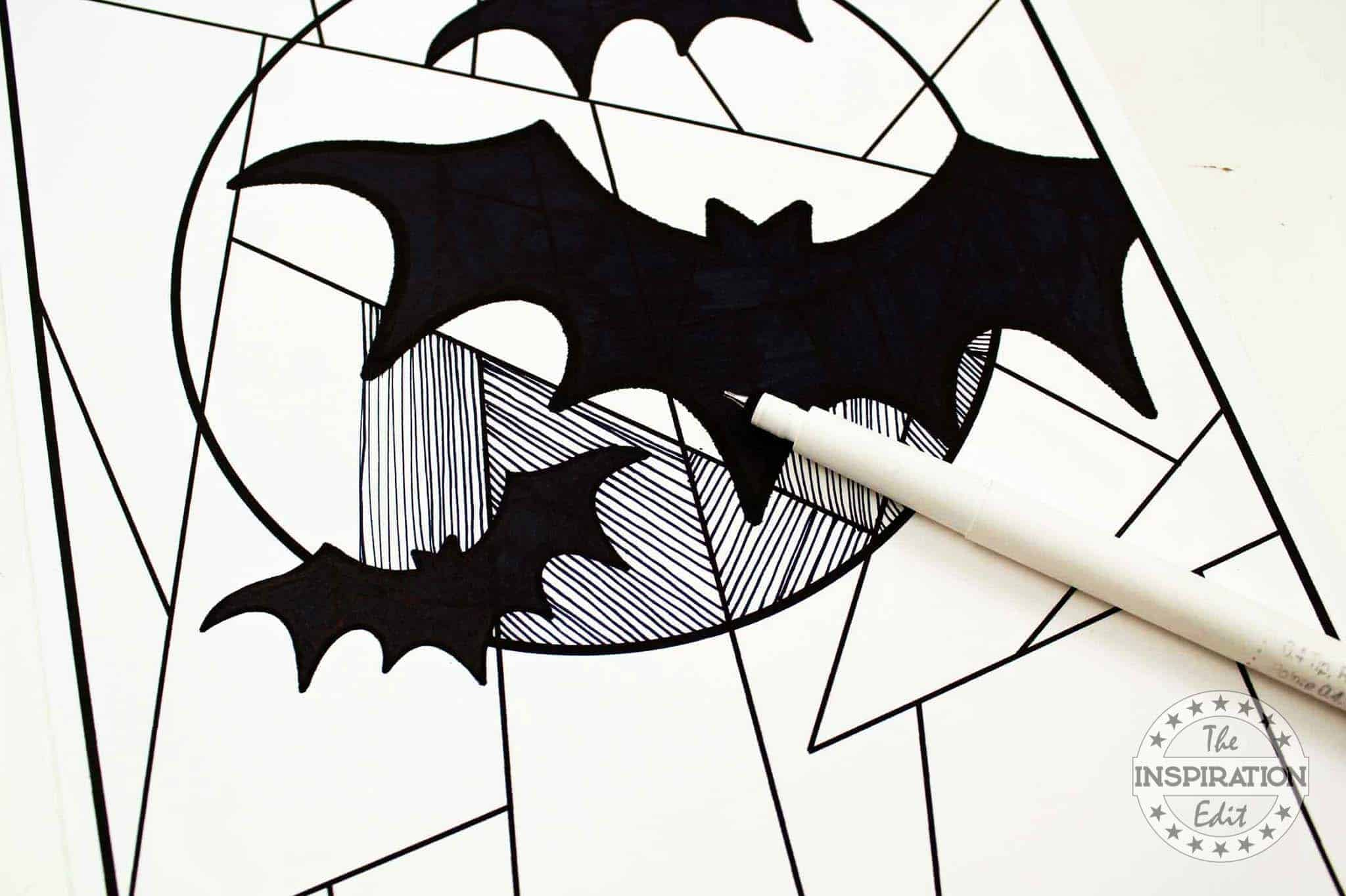 Halloween Bat Drawing